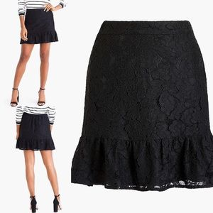 J.Crew Lace Mini Skirt